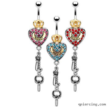 Belly Button Rings Heart Body Jewelry Review